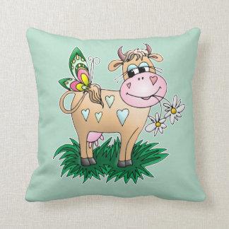 Cute Cow & Butterfly Cushion