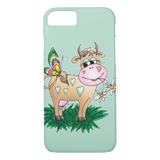 Cute Cow & Butterfly iPhone 7 Case