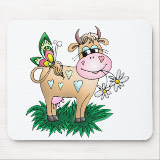 Cute Cow Butterfly Mouse Mat