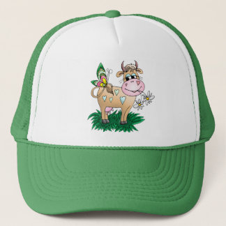Cute Cow & Butterfly Trucker Hat