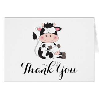 Cute Cow Cartoon Card