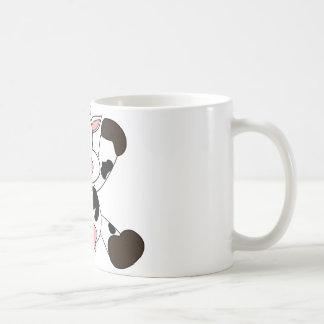 Cute Cow Cartoon Design Basic White Mug