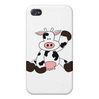 Cute Cow Cartoon Design iPhone 4 Cover