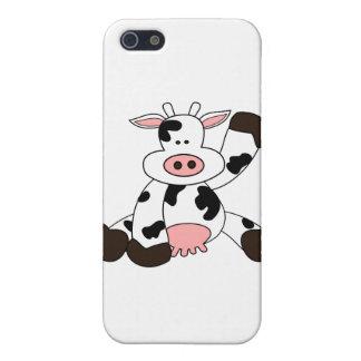 Cute Cow Cartoon Design iPhone 5/5S Cases