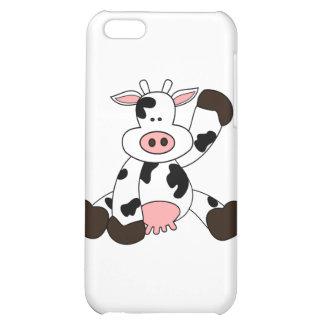 Cute Cow Cartoon Design iPhone 5C Cases