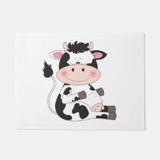 Cute Cow Cartoon Doormat