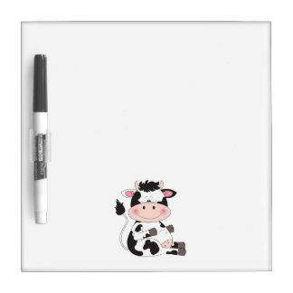 Cute Cow Cartoon Dry Erase Board