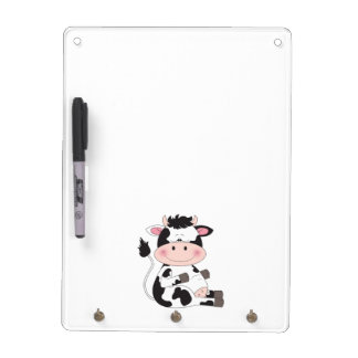 Cute Cow Cartoon Dry Erase Board