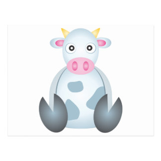 Cute Cow Cartoon Post Cards