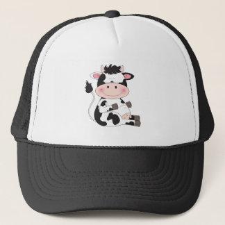 Cute Cow Cartoon Trucker Hat