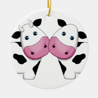 Cute Cow Couple Ornament