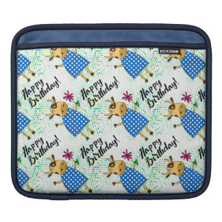 "Cute cow doodle character, ""Happy Birthday"" iPad Sleeve"