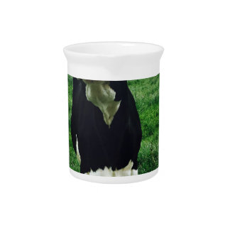 Cute cow farm animal calf pitcher