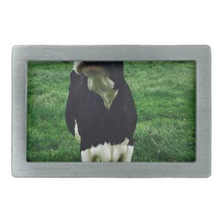 Cute cow farm animal calf rectangular belt buckle