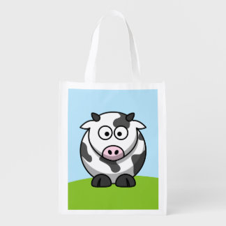 Cute Cow Reusable Grocery Bag