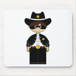 Cute Cowboy Gunslinger Mousepad