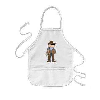 Cute Cowboy, Lariat, Cowboy Hat, Chaps, Bandana Kids' Apron