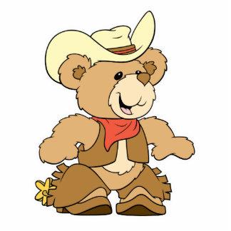 Cute Cowboy Rancher Bear Photo Sculptures