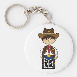Cute Cowboy Sheriff Keychain
