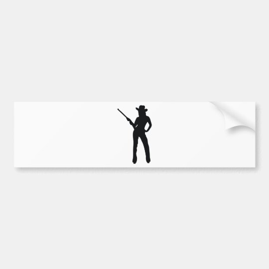 cute Cowgirl Bumper Sticker