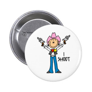 Cute Cowgirl Gift 6 Cm Round Badge