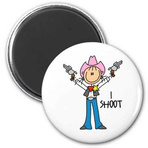 Cute Cowgirl Gift Refrigerator Magnet