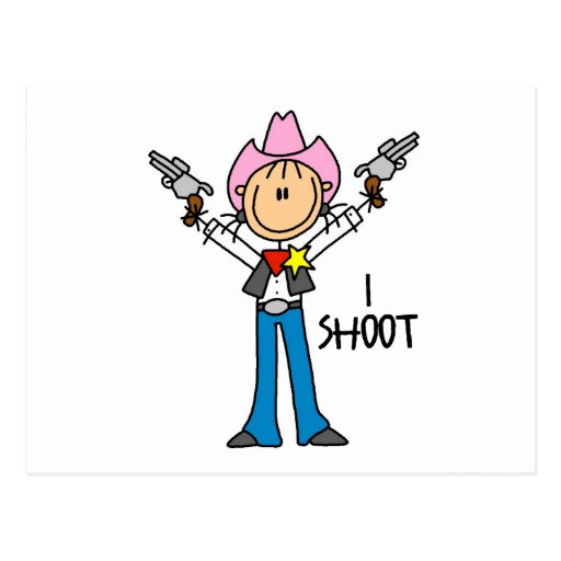 Cute Cowgirl Gift Post Cards
