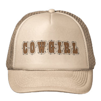Cute Cowgirl in the Barn Mesh Hats