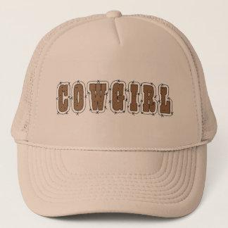 Cute Cowgirl in the Barn Trucker Hat