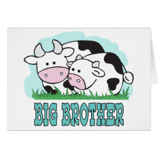 Cute Cows Big Brother Card