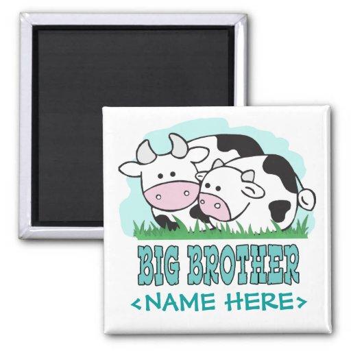 Cute Cows Big Brother Fridge Magnet