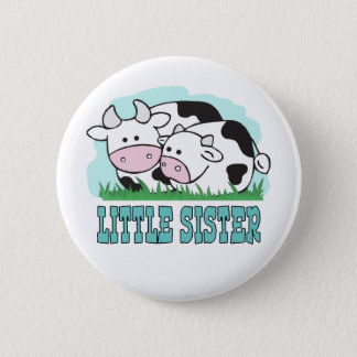 Cute Cows Little Sister 6 Cm Round Badge