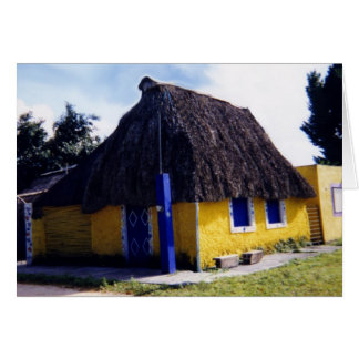 Cute Cozumel Thatched Roof Home Greeting Card
