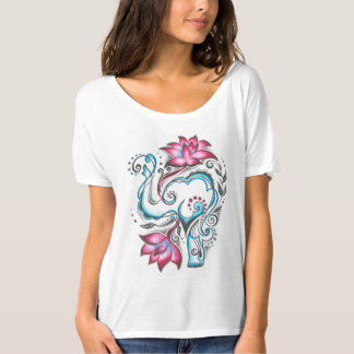 Cute&Cozy Elephant T-Shirt with Flowers