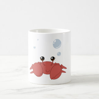 Cute crab basic white mug