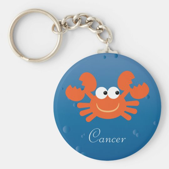 Cute Crab Cancer Zodiac Sign Custom Key Ring
