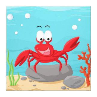 Cute crab canvas print
