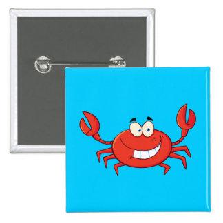 Cute Crab Cartoon 15 Cm Square Badge