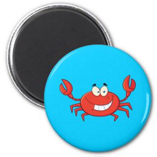Cute Crab Cartoon 6 Cm Round Magnet