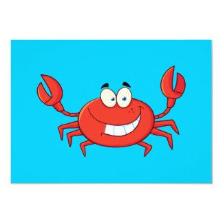 Cute Crab Cartoon Card