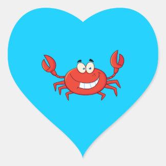 Cute Crab Cartoon Heart Sticker