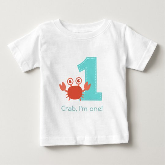 Cute Crab, Crab I'm One, First Birthday Baby