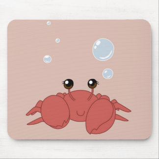 Cute crab mouse mat