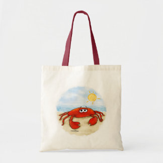 Cute crab on beach bag