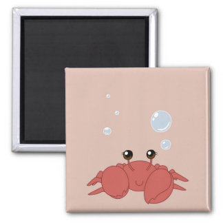 Cute crab square magnet