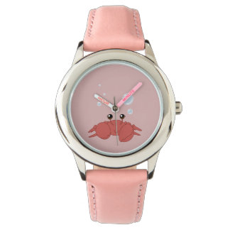 Cute crab wrist watch