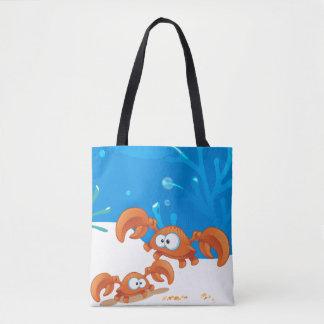 Cute Crabs Crab Aquatic Ocean Tote Bag
