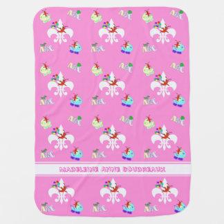 Cute Crawfish Cajun Baby Girl Baby Blanket