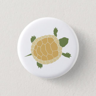 Cute Crawling Little Turtle Tortoise 3 Cm Round Badge