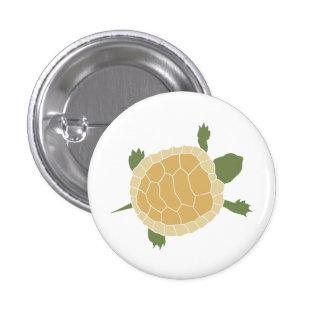 Cute Crawling Little Turtle Tortoise 3 Cm Round Badge